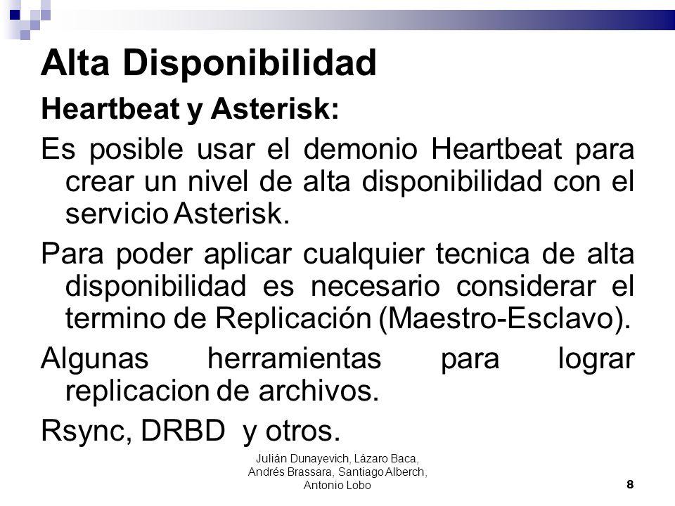 Alta Disponibilidad Heartbeat y Asterisk: Es posible usar el demonio Heartbeat para crear un nivel de alta disponibilidad con el servicio Asterisk. Pa