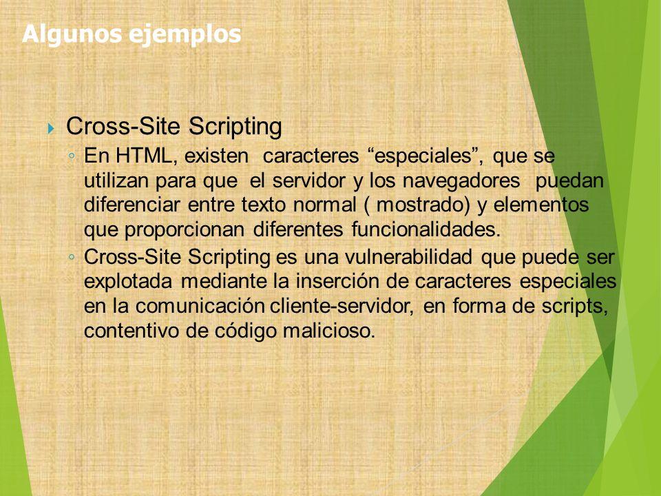 Cross-Site Scripting En HTML, existen caracteres especiales, que se utilizan para que el servidor y los navegadores puedan diferenciar entre texto nor