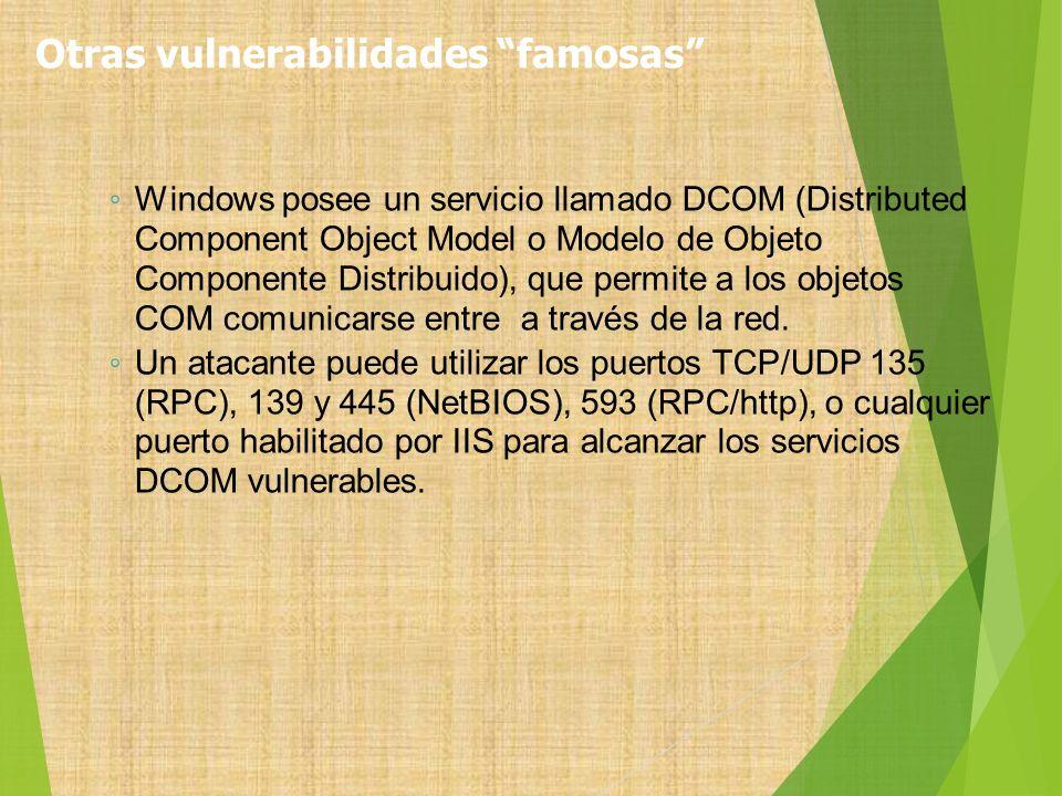 Windows posee un servicio llamado DCOM (Distributed Component Object Model o Modelo de Objeto Componente Distribuido), que permite a los objetos COM c