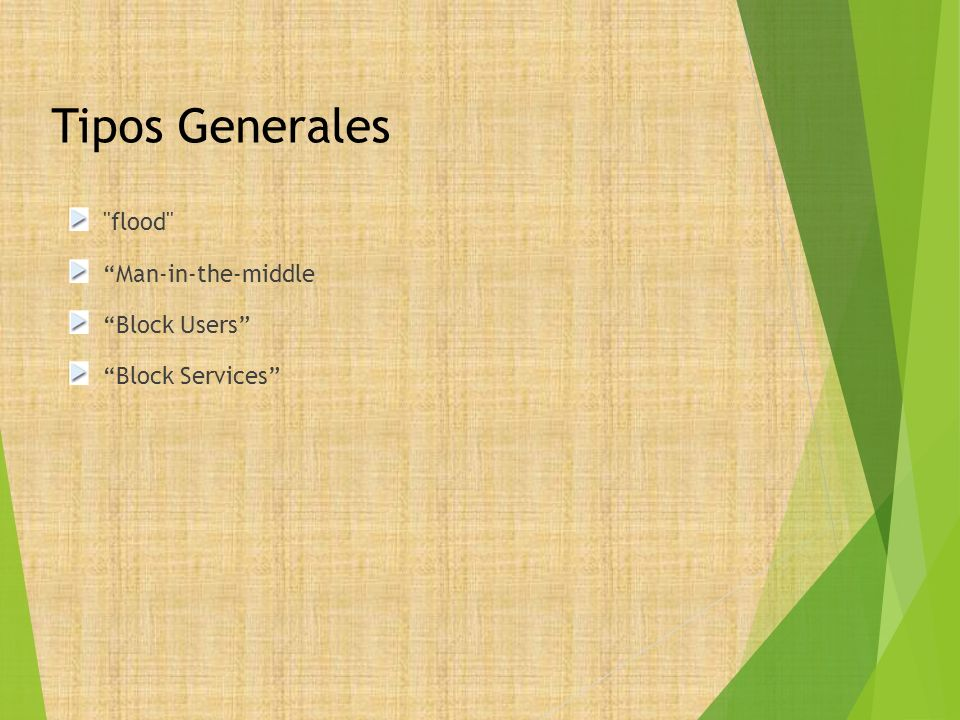 Tipos Generales