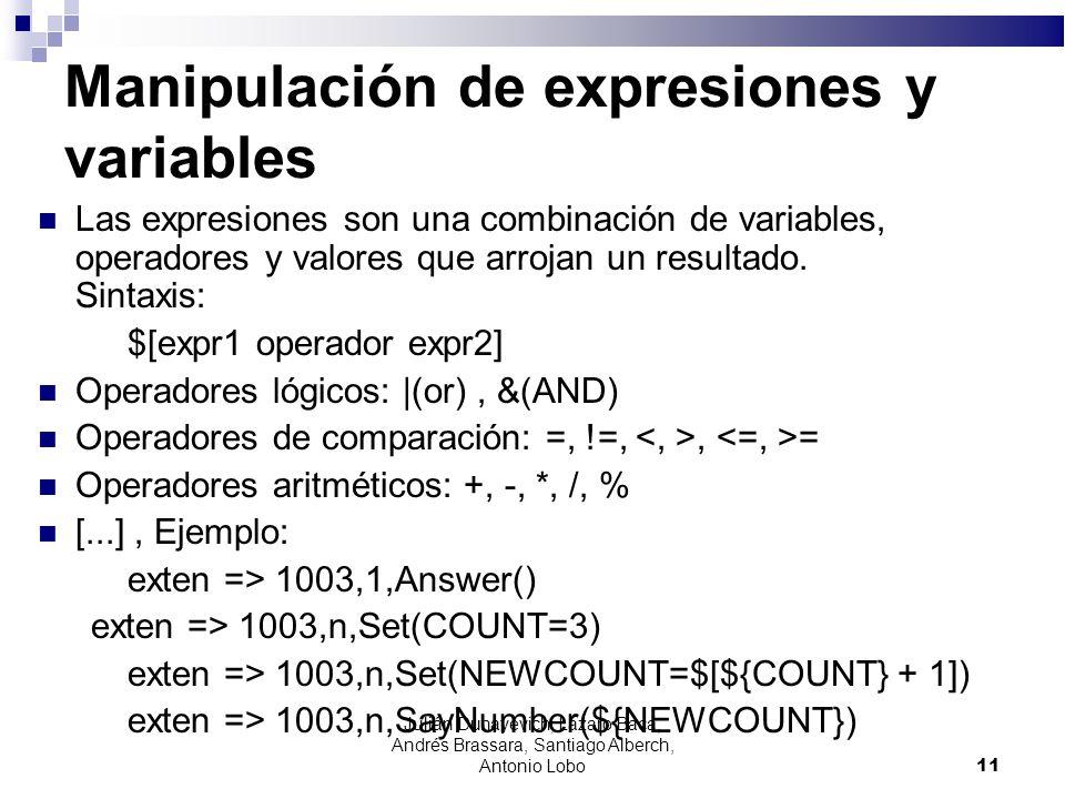 Manipulación de expresiones y variables Las expresiones son una combinación de variables, operadores y valores que arrojan un resultado. Sintaxis: $[e