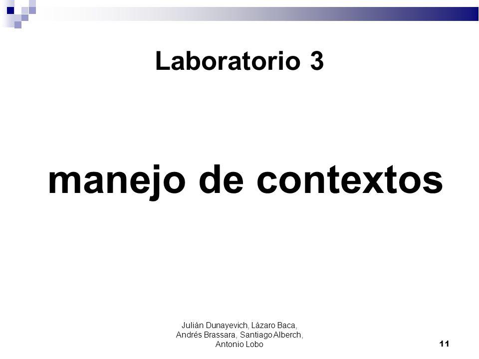 Laboratorio 3 manejo de contextos 11 Julián Dunayevich, Lázaro Baca, Andrés Brassara, Santiago Alberch, Antonio Lobo