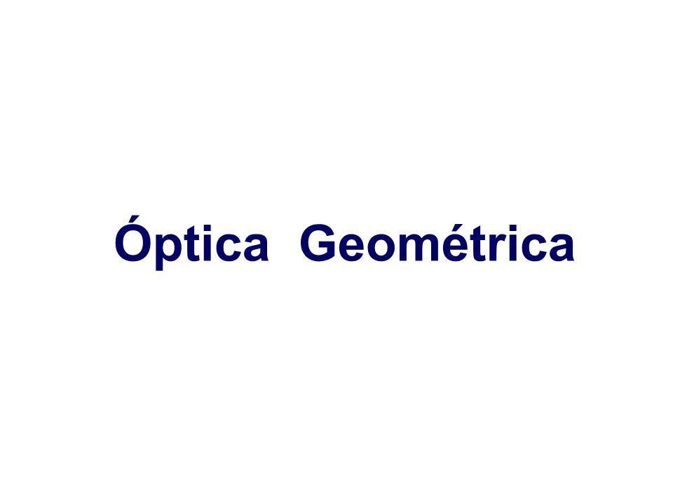 12 Óptica geométrica III: Sistemas ópticos simples Dioptrio esférico: Focos y distancias focales Foco objeto: De la misma forma existe un punto, denominado Foco objeto (F 1 ) tal que los rayos procedentes de él salen del dioptrio paralelos al eje óptico (es decir, formarían una imagen en el infinito).
