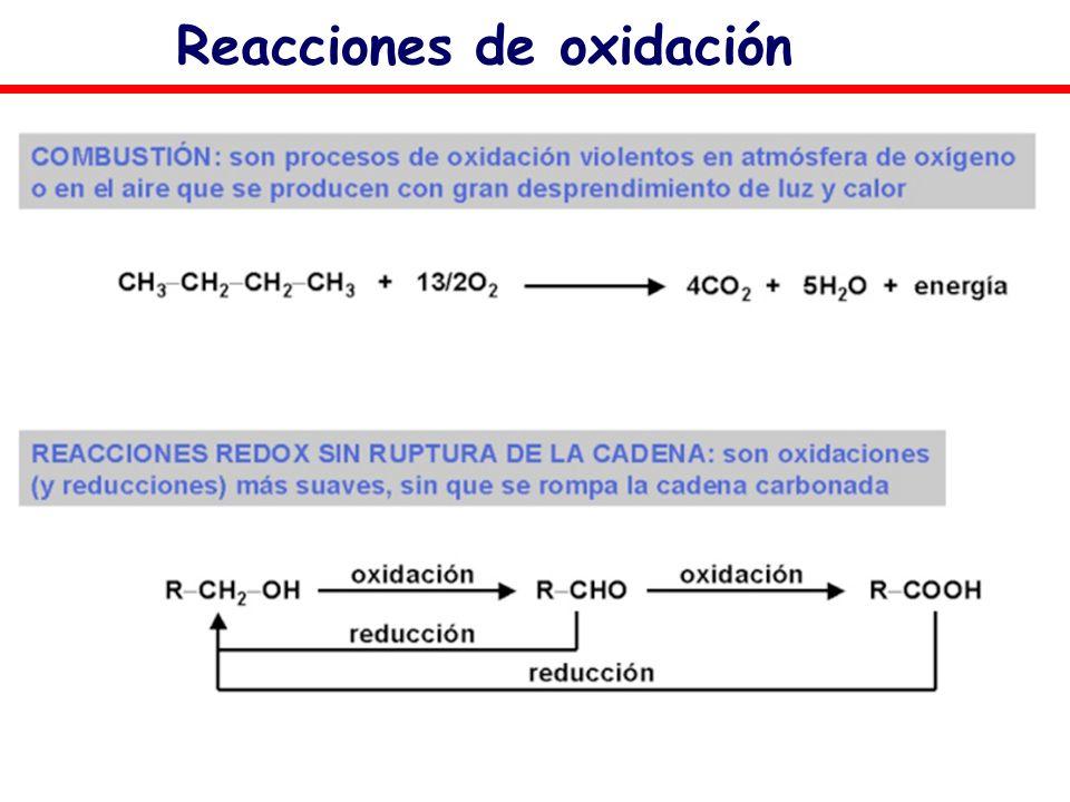 Reacciones de oxidación