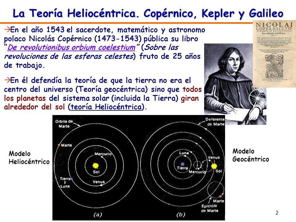 2 En el año 1543 el sacerdote, matemático y astronomo polaco Nicolás Copérnico (1473-1543) pública su libroDe revolutionibus orbium coelestium (Sobre