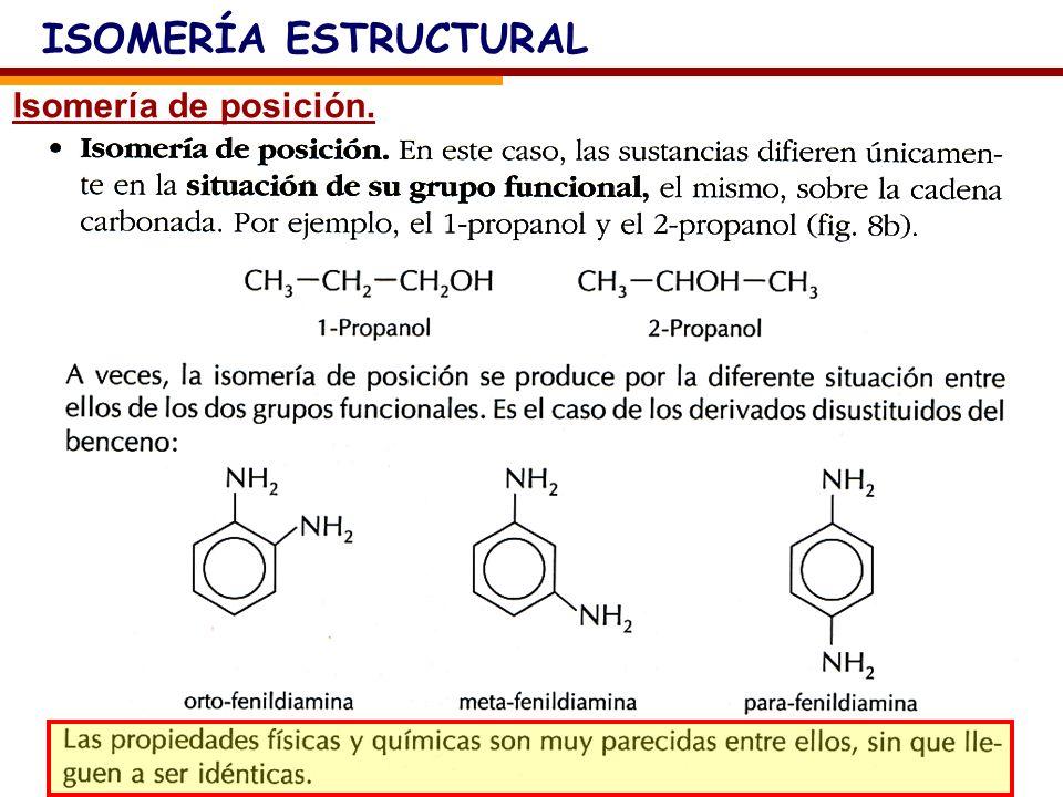 Isomería de función.