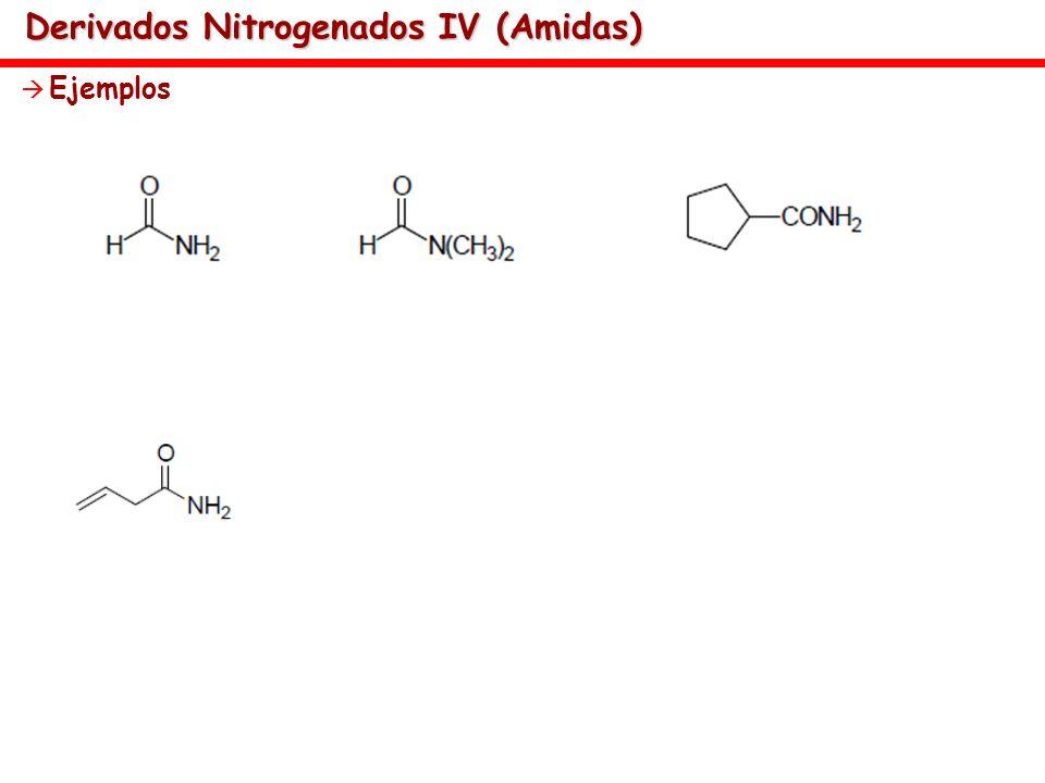 Derivados Nitrogenados IV (Amidas) Ejemplos