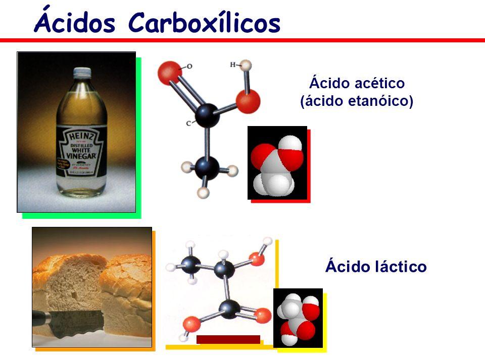 Ácido acético (ácido etanóico) Ácido láctico Ácidos Carboxílicos