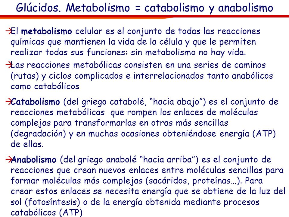 Catabolismo, respiración celular El ATP (adenosín trifosfato) es la fuente de energía universal de la célula.