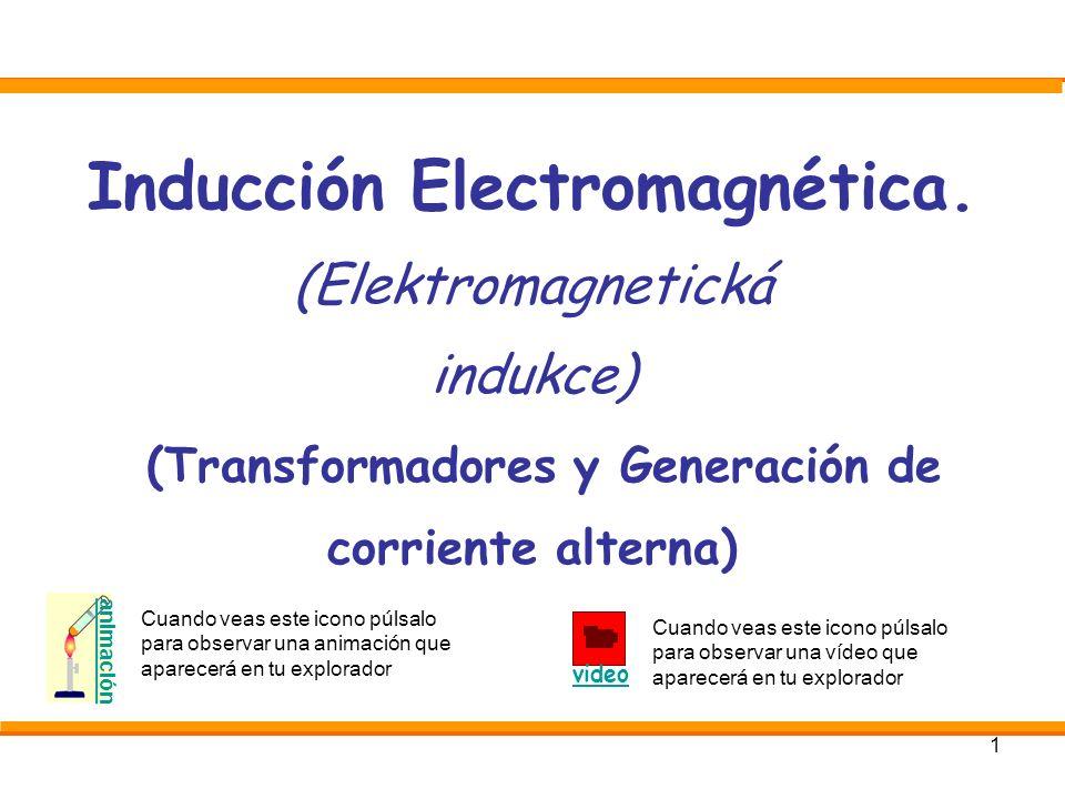 1 Inducción Electromagnética. (Elektromagnetická indukce) (Transformadores y Generación de corriente alterna) animación Cuando veas este icono púlsalo