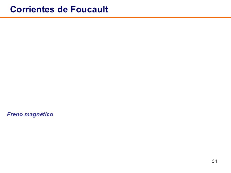 34 Corrientes de Foucault Freno magnético