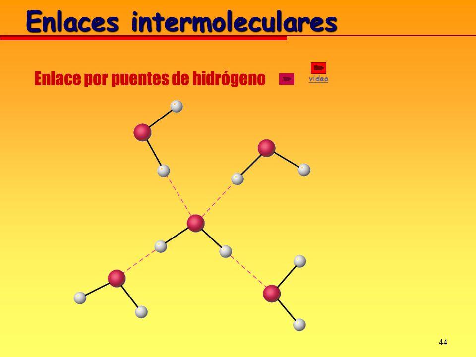 44 Enlaces intermoleculares Enlace por puentes de hidrógeno video