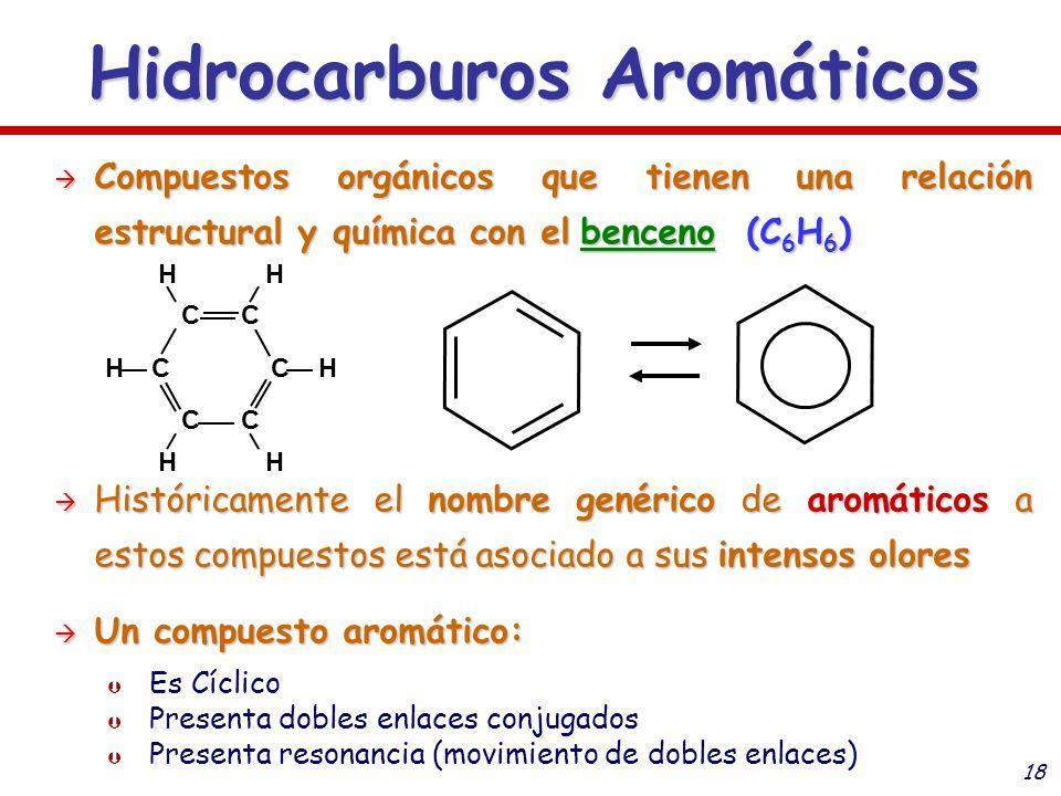 18 Compuestos orgánicos que tienen una relación estructural y química con el benceno (C 6 H 6 ) Compuestos orgánicos que tienen una relación estructur