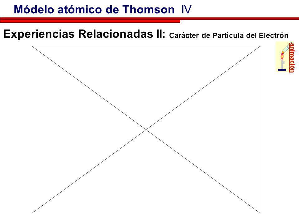 La medida directa del cociente carga-masa, e/m, de los electrones por J. J.Thomson en 1897 puede considerarse justamente como el principio para la com