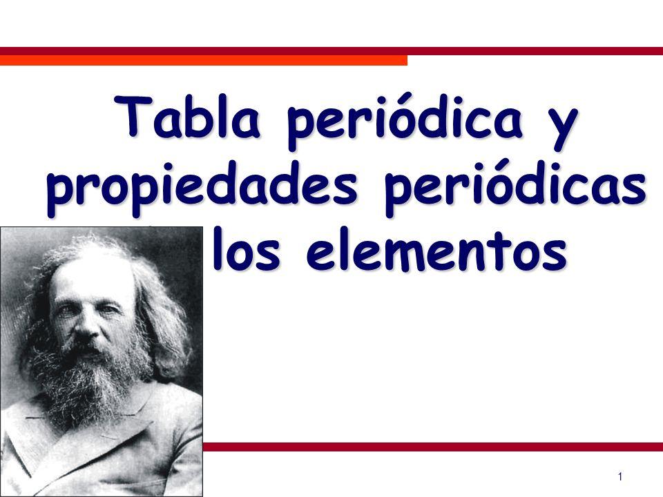 1 Tabla periódica y propiedades periódicas de los elementos