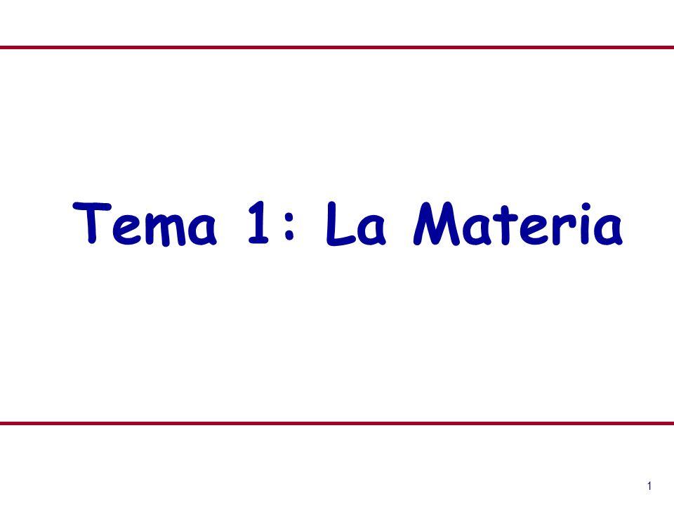 1 Tema 1: La Materia