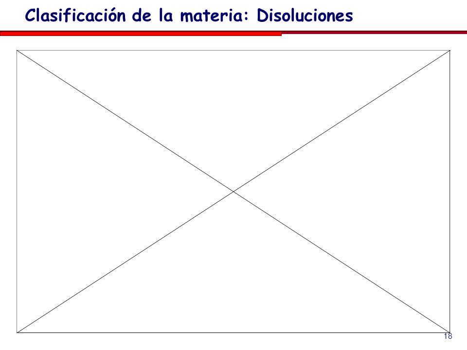 18 Clasificación de la materia: Disoluciones