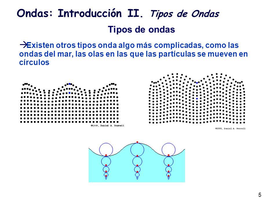 16 De las definiciones anteriores podemos deducir que para cualquier onda armónica la velocidad de propagación cumple: Muy bien, vale, maravilloso...