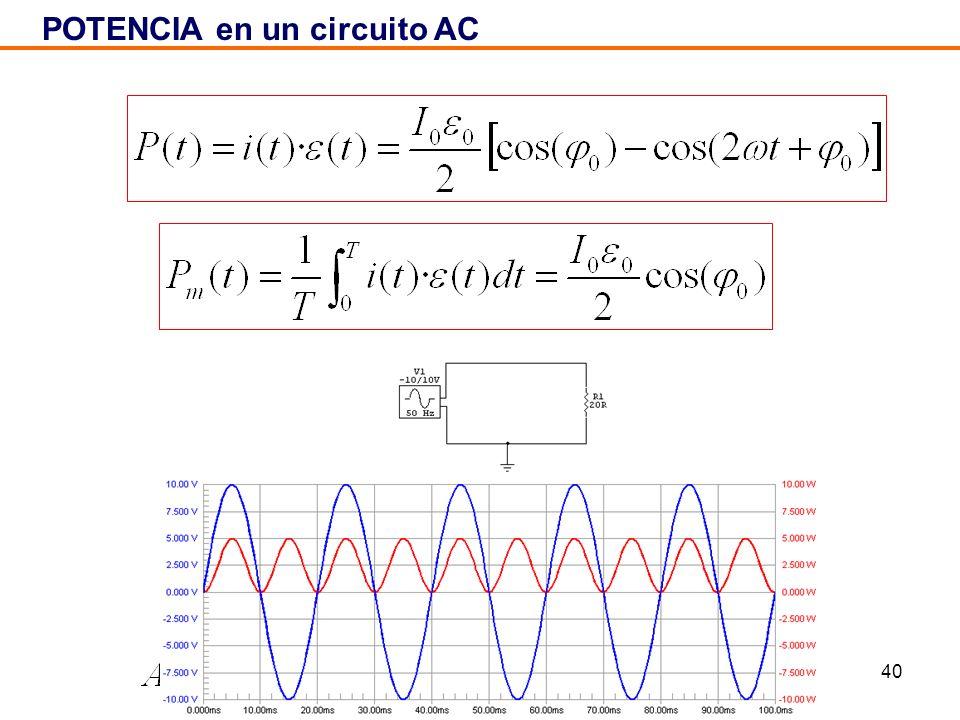 40 POTENCIA en un circuito AC