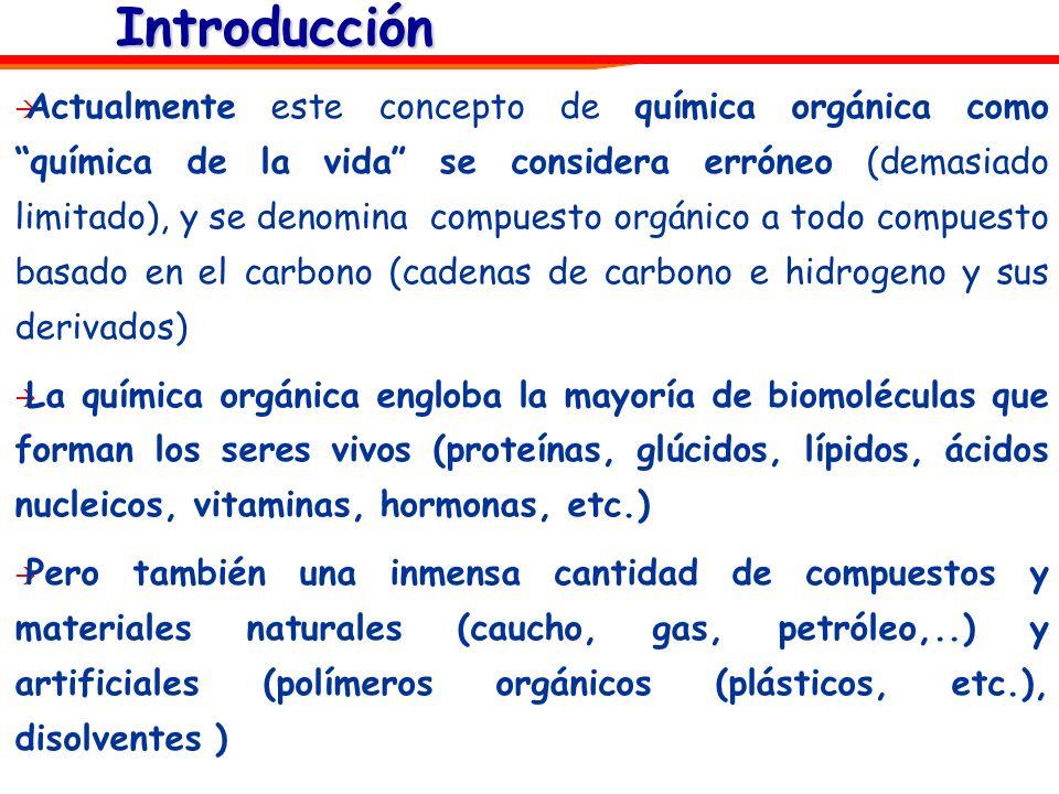 Formulas de los compuestos de carbono Como todos los compuestos químicos, las sustancias orgánicas se representan mediante fórmulas.