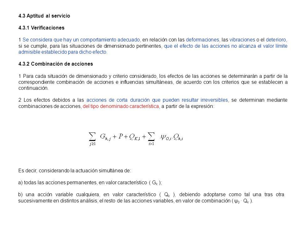 Es decir, considerando la actuación simultánea de: a) todas las acciones permanentes, en valor característico ( G k ); b) una acción variable cualquie