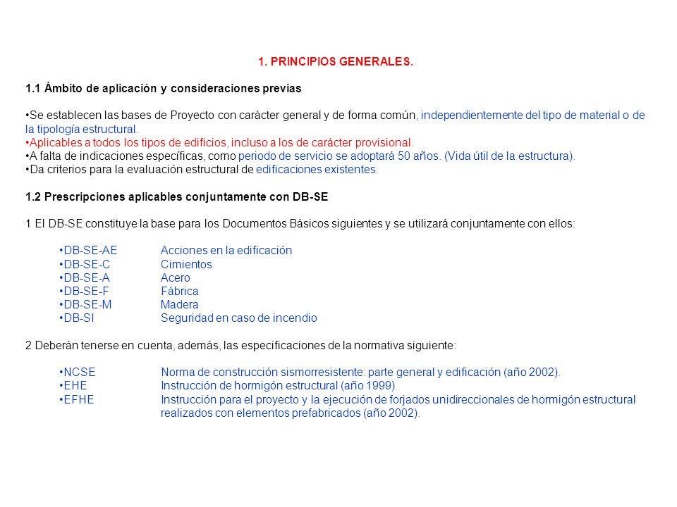 1. PRINCIPIOS GENERALES. 1.1 Ámbito de aplicación y consideraciones previas Se establecen las bases de Proyecto con carácter general y de forma común,
