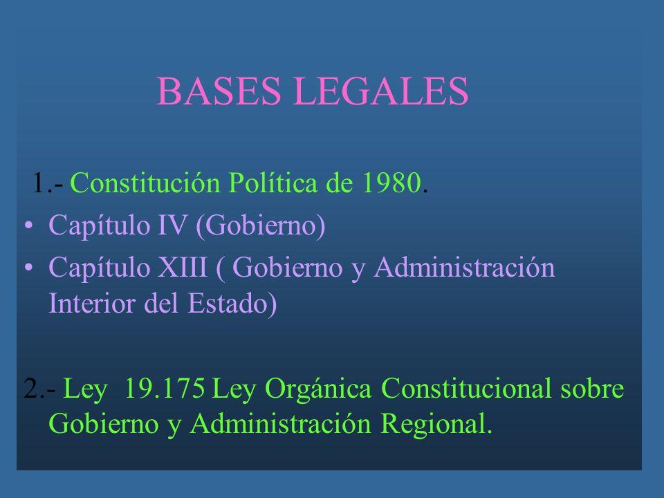 BASES LEGALES 1.- Constitución Política de 1980.