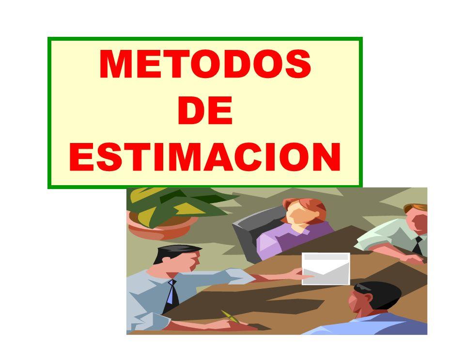 METODOS DE ESTIMACION
