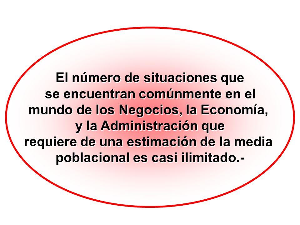 El número de situaciones que se encuentran comúnmente en el se encuentran comúnmente en el mundo de los Negocios, la Economía, y la Administración que