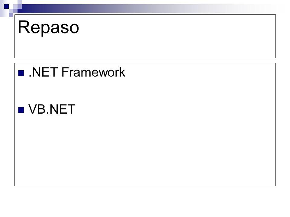 Repaso.NET Framework VB.NET