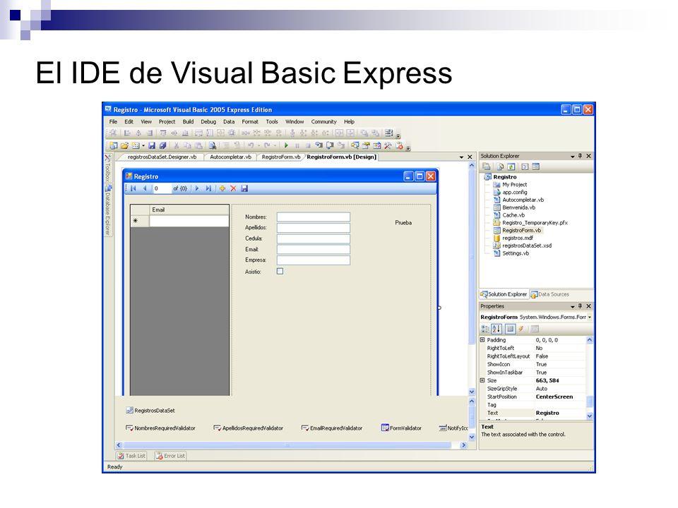 Compilar La compilación genera el código MSIL Menú Build Ejecutando Ejecutar el.exe Desde Visual Studio, presione CTRL+F5.