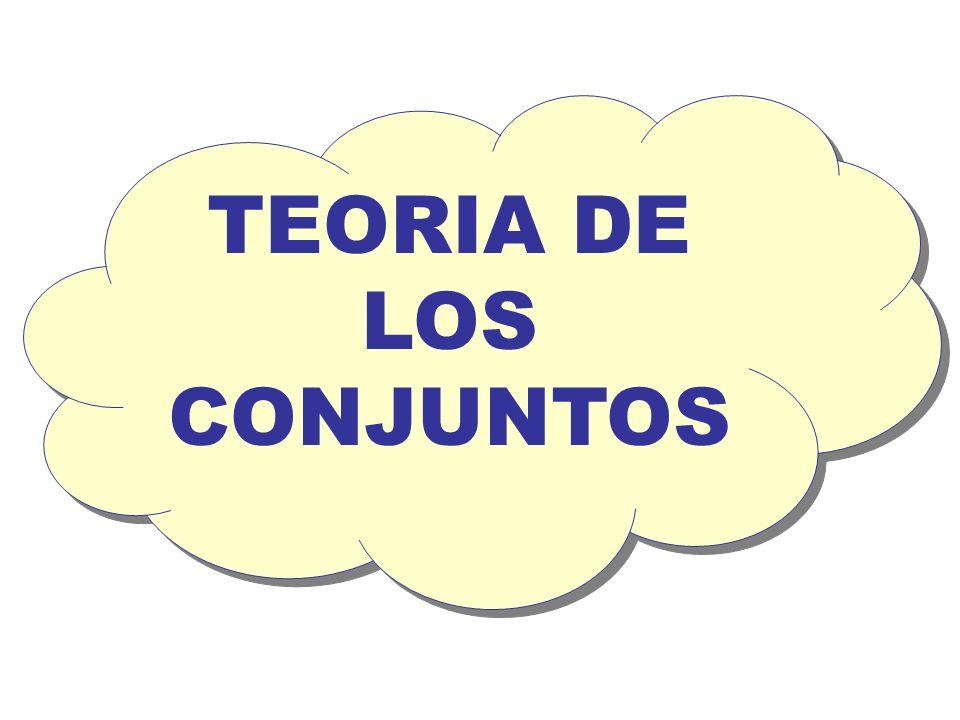 TEORIA DE LOS CONJUNTOS TEORIA DE LOS CONJUNTOS