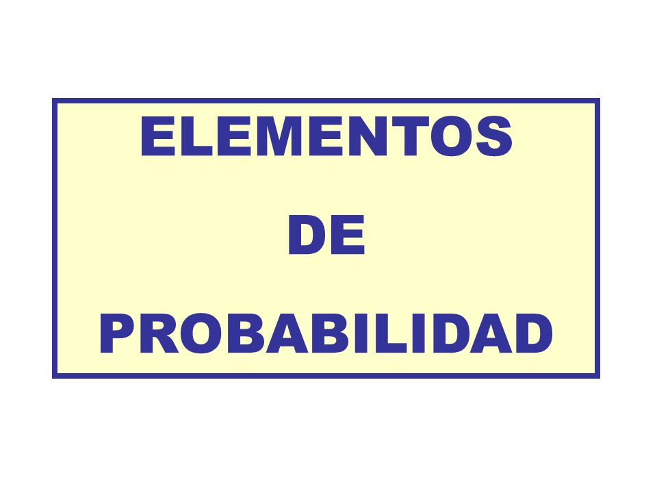 Lo simbolizamos con S ESPACIO MUESTRAL Ejemplos: Experimento aleatorio: tirar un dado al aire.