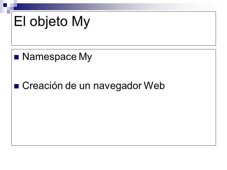 El objeto My Namespace My Creación de un navegador Web