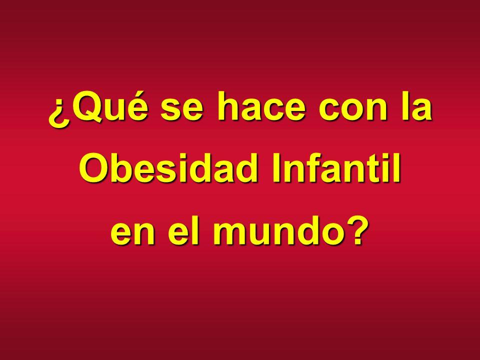 ¿Qué se hace con la Obesidad Infantil en el mundo?