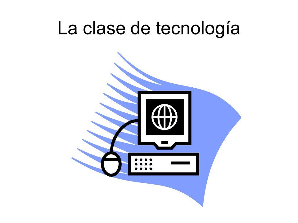 La clase de tecnología