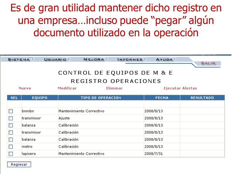 Es de gran utilidad mantener dicho registro en una empresa…incluso puede pegar algún documento utilizado en la operación