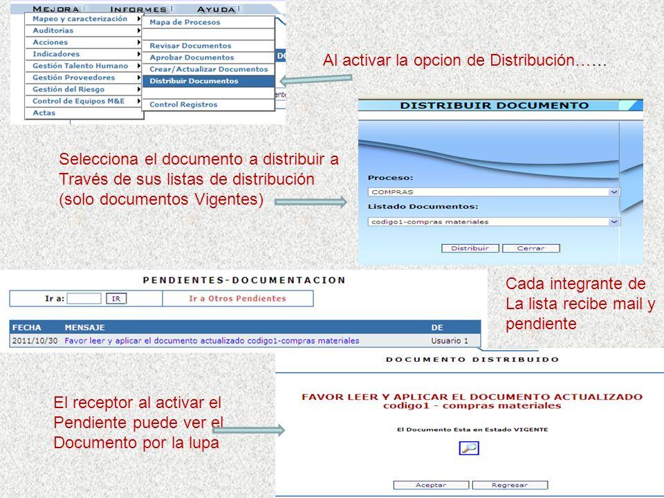Por opción Crear/Actualizar, si el documento esta en estados: Elaborando/Revisado/ Aprobado, se utiliza la opción señalada al final de esta pantalla p