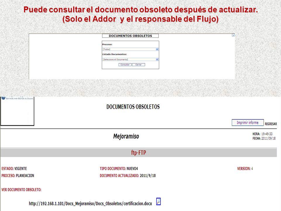 Se puede consultar por días los pendientes atrasados de documentación