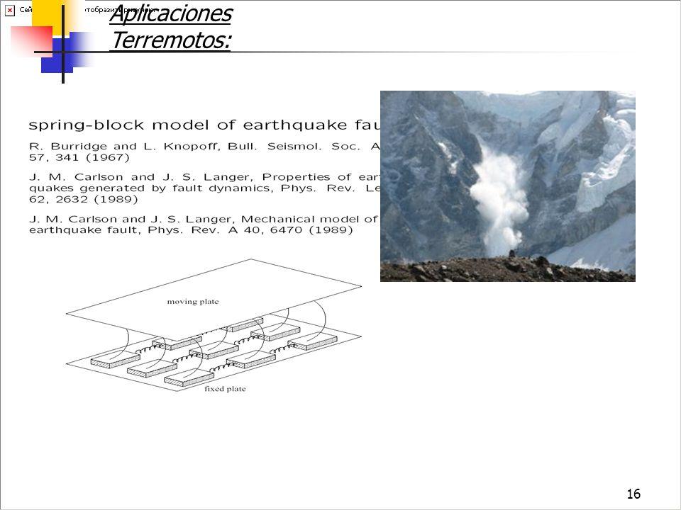 16 Aplicaciones Terremotos: