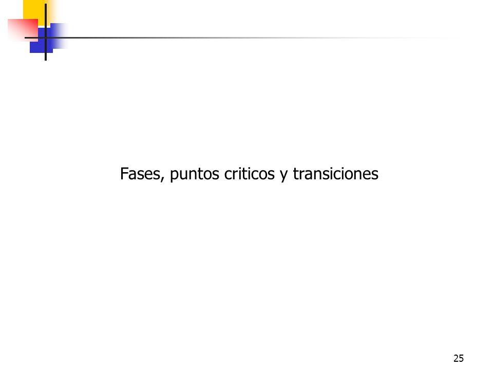 25 Fases, puntos criticos y transiciones