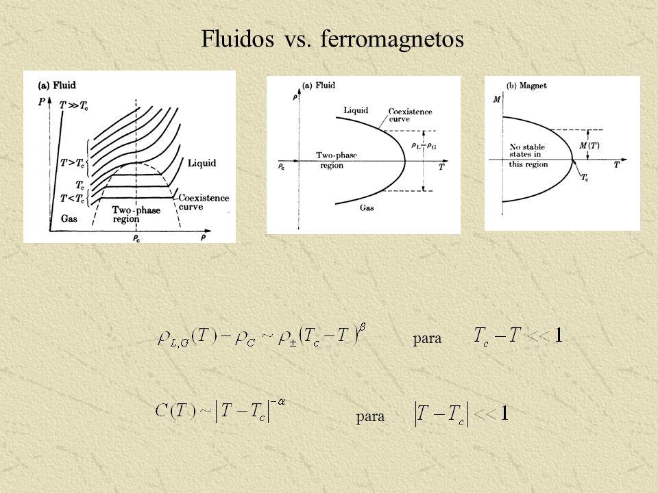 Fluidos vs. ferromagnetos para