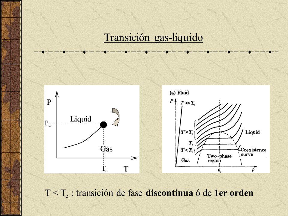Una medida de Complejidad ij SjSj SiSi P i (S)P j (S) S i = +1 P i (+1) S i = -1 P i (-1) P ij (S 1,S 2 ) = P i (S 1 ) P j (S 2 ) Probabilidad conjunta P ij (S 1,S 2 ) eventos independientes: eventos correlacionados: P ij (S 1,S 2 ) > P i (S 1 ) P j (S 2 ) T >> T c T << T c P i (+1) ~ P j (+1) ~ 1 P ij (+1,+1) ~ 1 P i (-1) ~ P j (-1) ~ 0 P ij (+1,-1) ~ P ij (-1,+1) ~ P ij (-1,-1) ~ 0 Complejidad:
