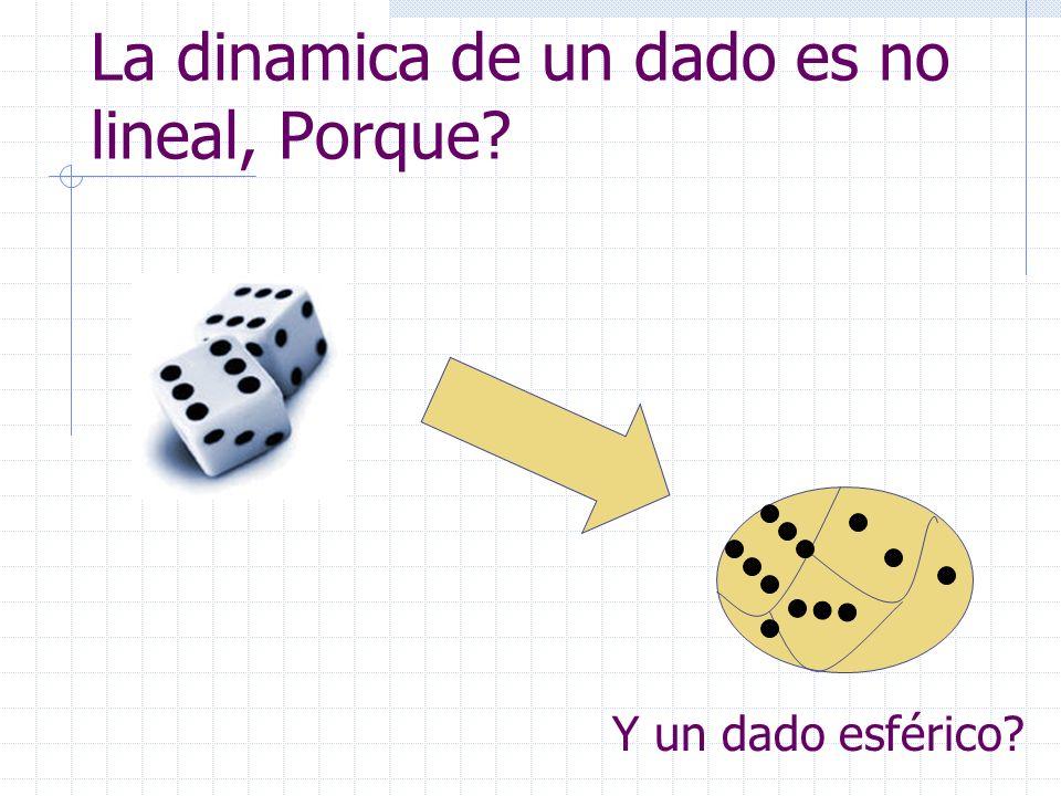 La dinamica de un dado es no lineal, Porque? Y un dado esférico?