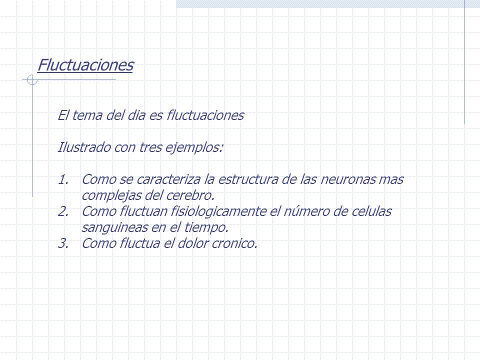 Fluctuaciones El tema del dia es fluctuaciones Ilustrado con tres ejemplos: 1.