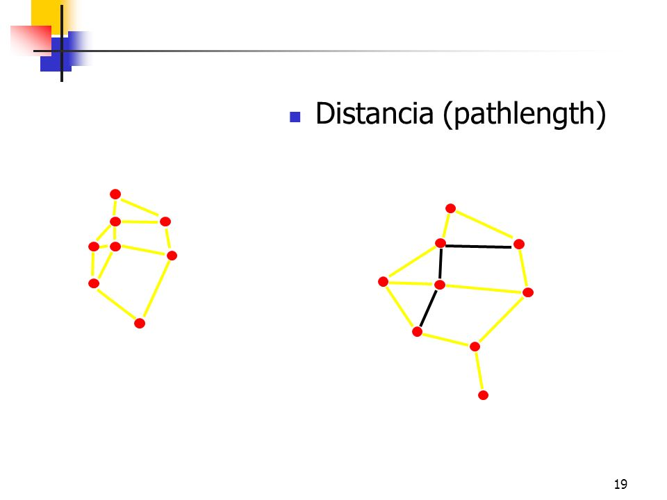 19 Distancia (pathlength) i j Friendship