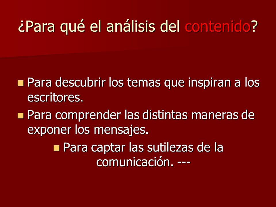 - II - ANÁLISIS DEL CONTENIDO