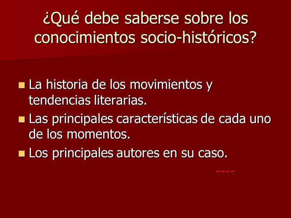 ¿Cuáles son los principales movimientos literarios.