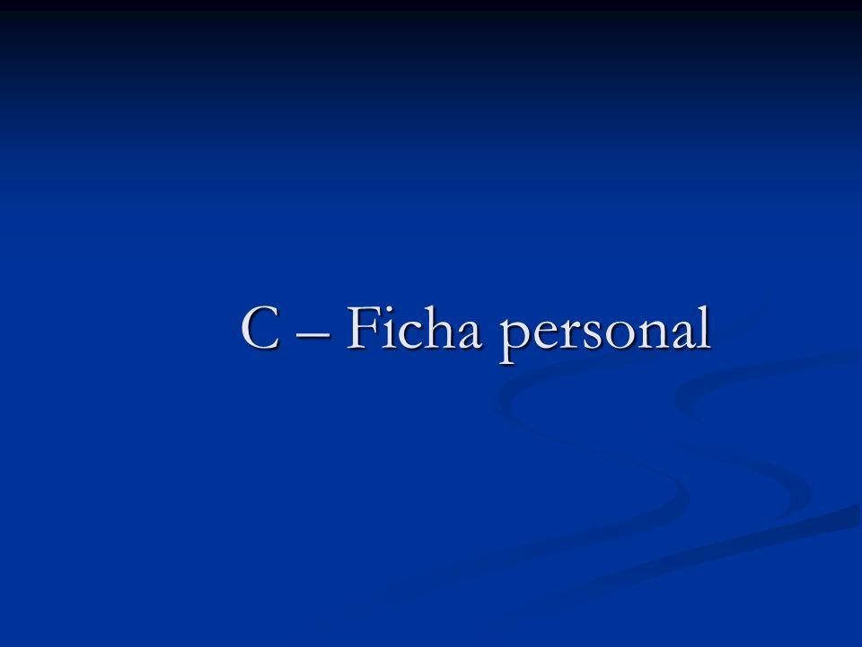 C – Ficha personal