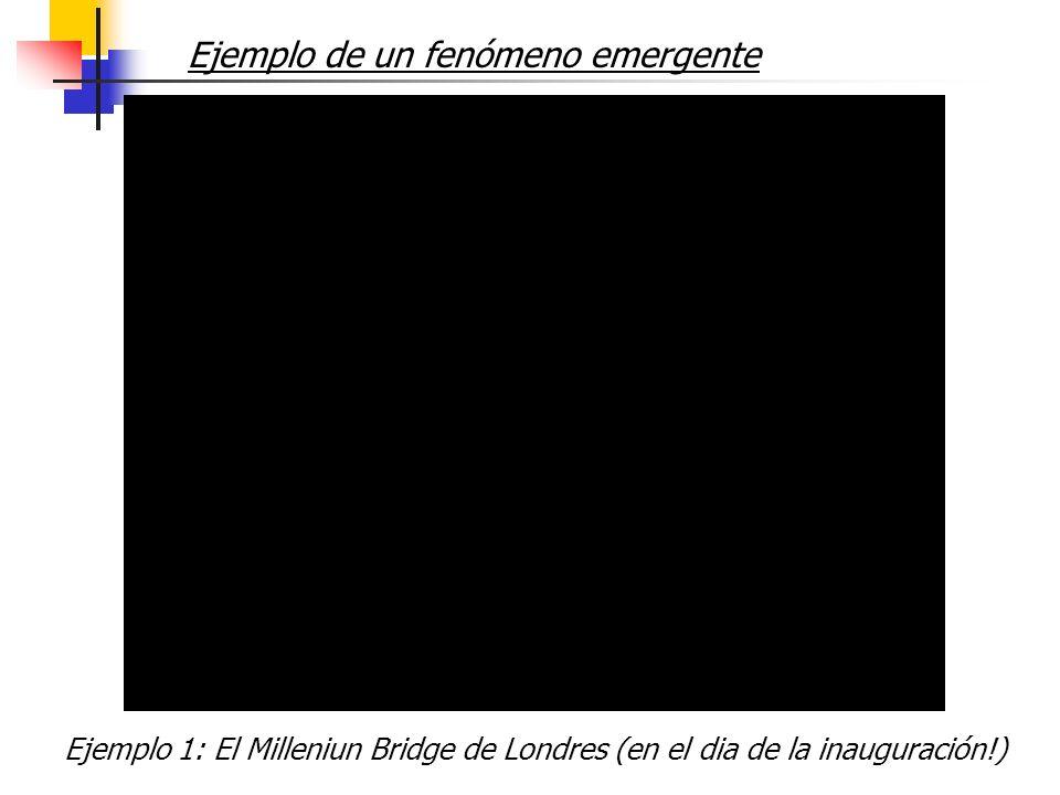 Ejemplo de un fenómeno emergente Ejemplo 1: El Milleniun Bridge de Londres (en el dia de la inauguración!)